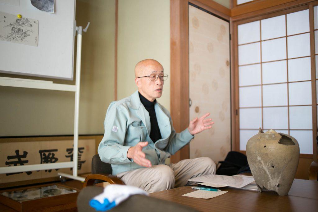 足助地区川面町龍宝寺住職松井さん。 元文化財課職員でもあります。 私は心の中でこっそり「なんでも知ってる松井さん」と呼んでました。