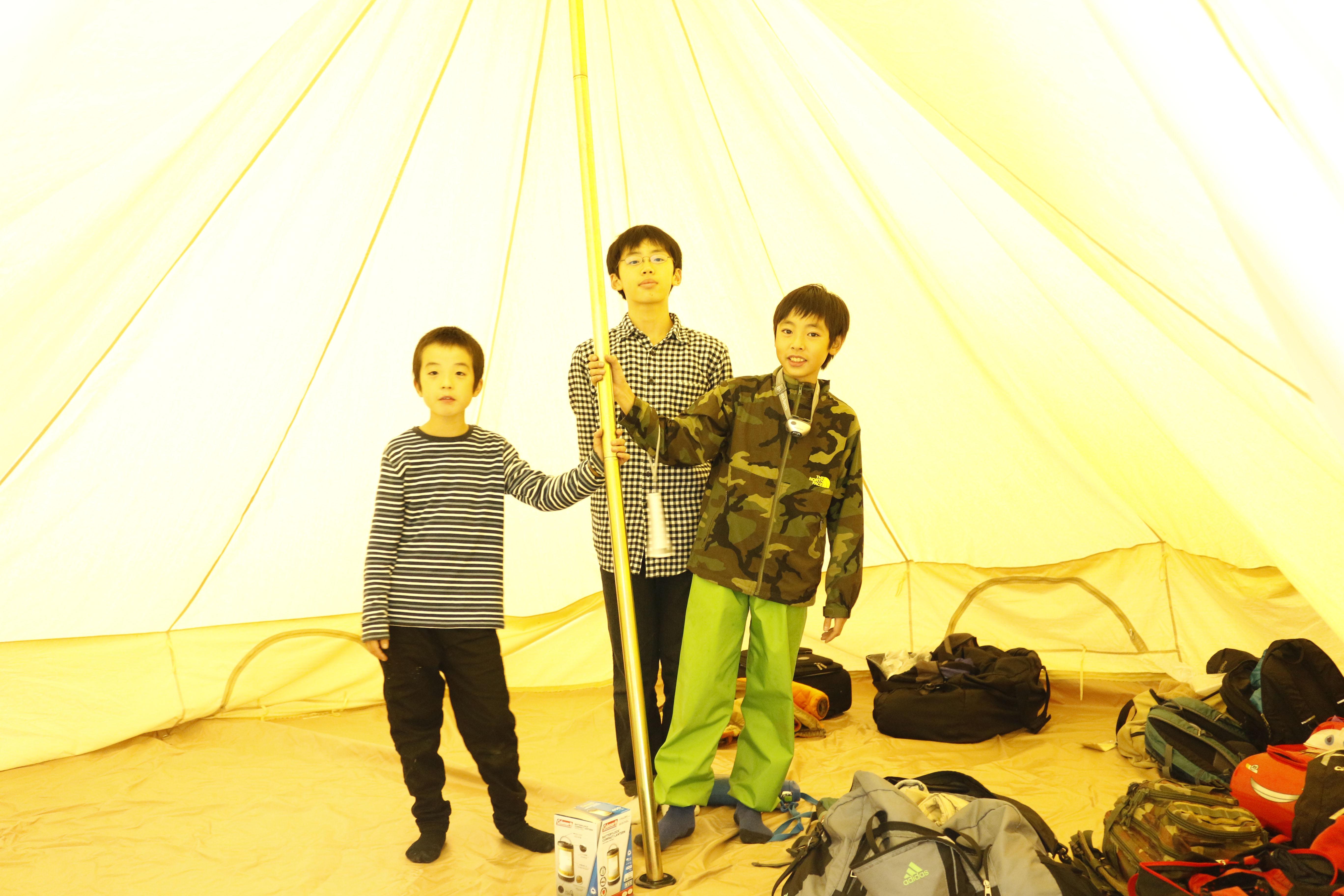 テントはとても広いです