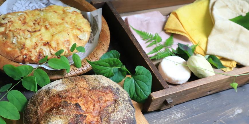草木染めと石窯フォカッチャ、簡単手ごね石鹸とハンドマッサージ
